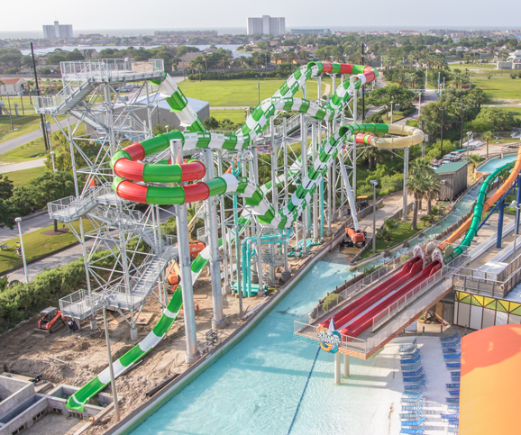 Le parc aquatique de Galveston au Texas