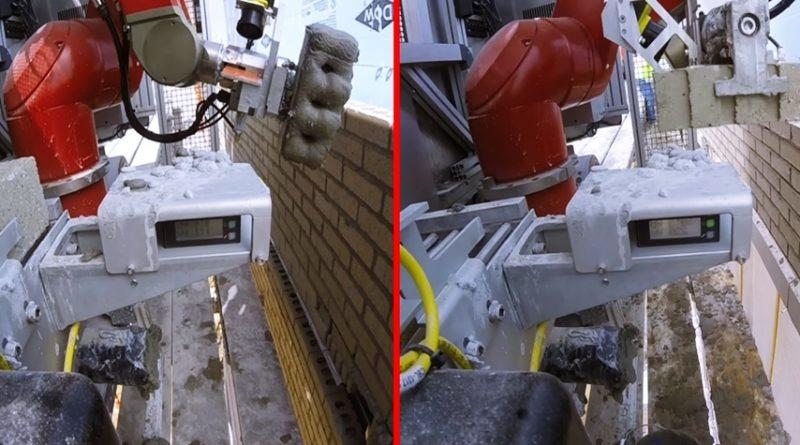 Ce robot est capable de monter un mur de briques 5 fois plus vite qu un ma on - Monter un mur en brique ...